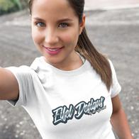 Frauen T-Shirt mit eigenem Motiv in verschieden Farben