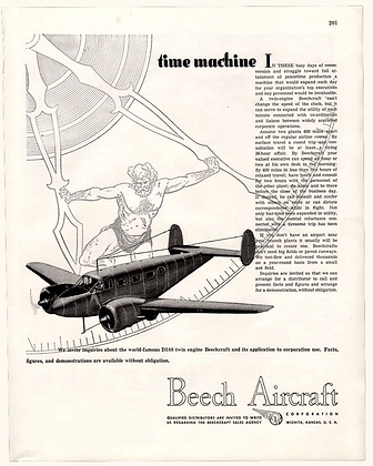 1946 Beech Aircraft Ad Time Machine