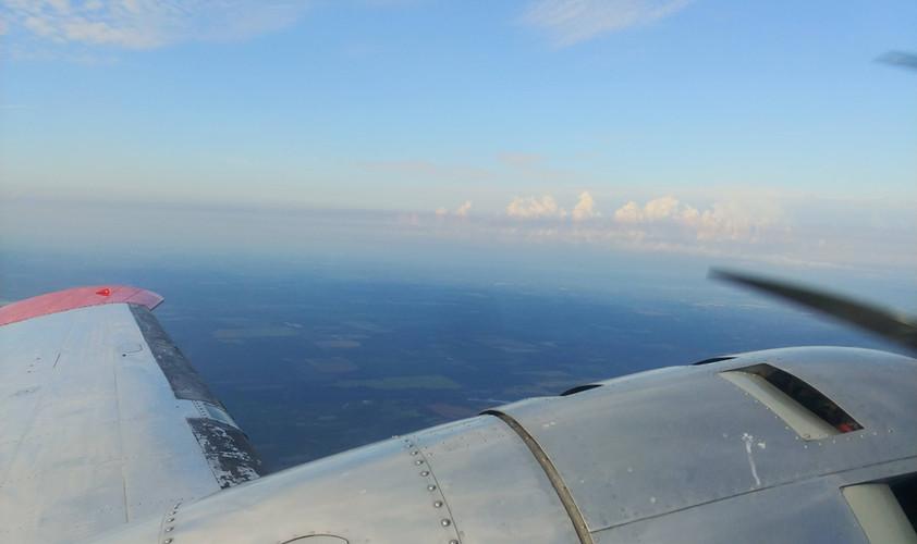 Beech 18 Wing View