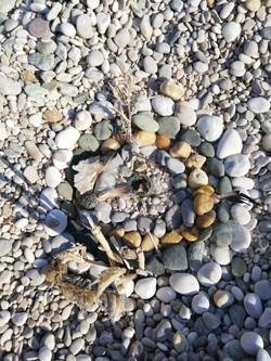 Spirale am Meer