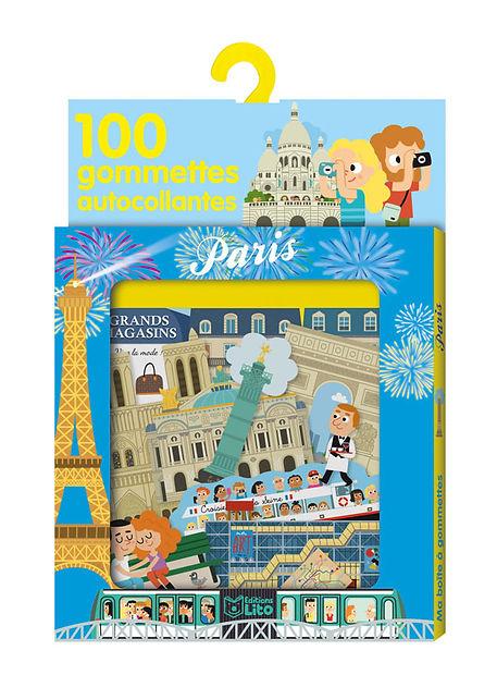 illustrations jeunesse de gommettes sur le thème de Paris, Editions Lito.  illustrateur : Jean-Sébastien Deheeger