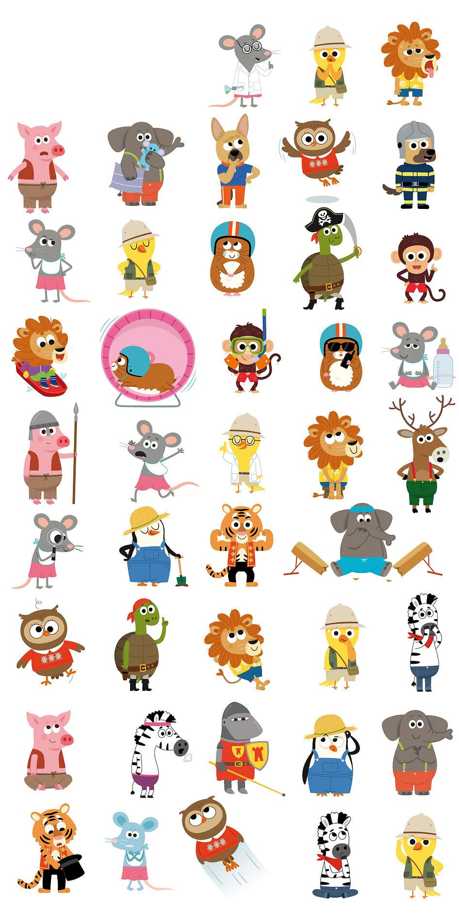 illustrations jeuensse, mascottes animaux Editions  Auzou,  illustrateur : Jean-Sébastien Deheeger