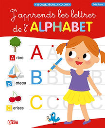 "illustration jeunesse pour couverture ""j'apprends l'alphabet"", illustrateur : Jean-Sébastien Deheeger"