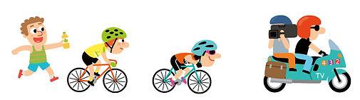 illustration jeunesse de gommettes cyclisme pour Lito .  illustrateur : Jean-Sébastien Deheeger