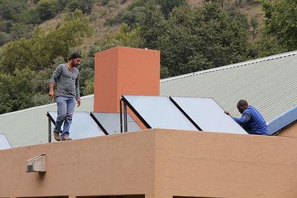 Hornbill Lodge solar geysers.