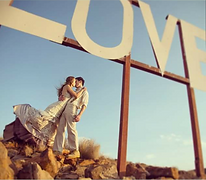 A declaration of love photographed on the mountain of faith next to Hornbill Lodge.