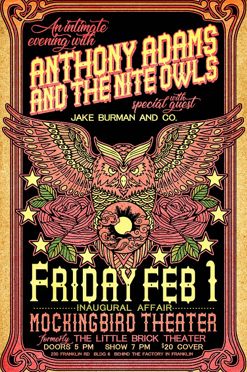 Anthony Adams and the Nite Owls Poster