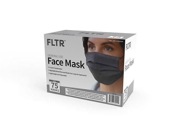 General Use Face Masks 75PK - Black