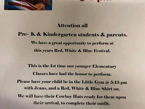 Pre-K & Kindergarten students and parents