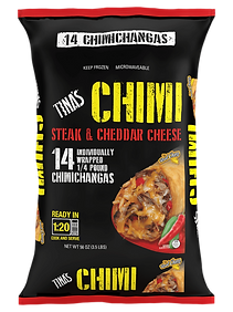 Tina's Steak & Cheddar Cheese Chimi 14 count Individually Wrapped