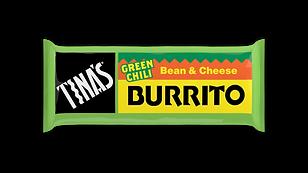 Tinas Single Bean Cheese Green frozen burritos