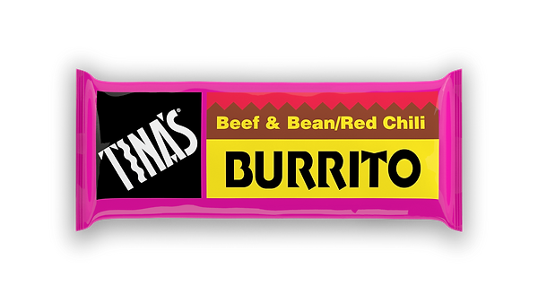 Tinas Single Beef Bean Red frozen burritos