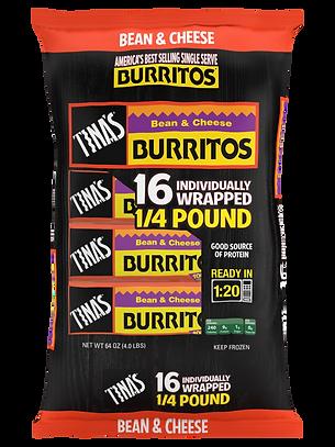 Tina's Bean & Cheese Burritos 16ct