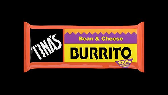 Tina's Bean & Cheese 4oz Burrito -- 32 per case