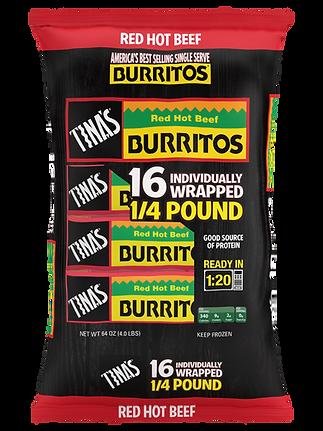 Tina's Red Hot Burritos 16ct