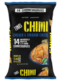 Tina's Chicken and Cheddar Cheese Chimi individually wrapped 14 count value pack 1/4 pound chimi ready in 1 minute and 20 seconds in microwave good source of protein