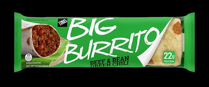 Tina's Beef & Bean Green Chili Big Burrito -- 12 per case