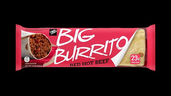 Tina's Red Hot Beef Big Burrito -- 12 per case