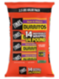 Tina's Individually wrapped 4 oz burritos Bean and Cheese made with farm grown pinto beans, real cheddar cheese, fresh baked tortilla, good source of protein, quick meal done in 1 min 20 sec in microwave, 3.5 pound value pack
