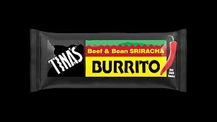 Tinas Beef & Bean Sriracha frozen burritos
