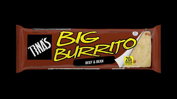 Tina's Beef and Bean Big frozen burritos
