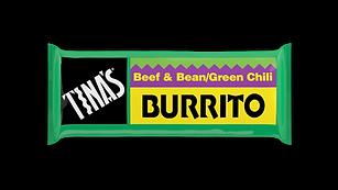 Tinas Single Beef Bean Green frozen burritos