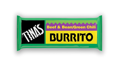 Tinas Single Beef Bean Green Chili frozen burrito