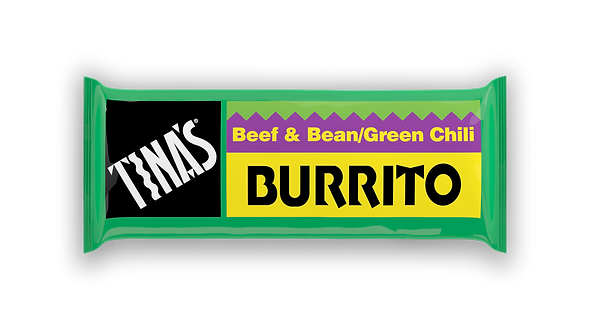 Tina's Beef & Bean Green Chili 4oz Burrito -- 32 per case