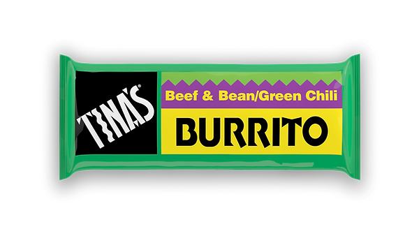Tinas Single Beef Bean Green frozen burritos