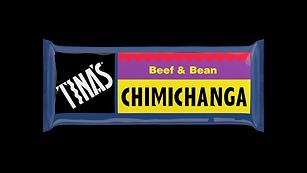 Tinas Single Beef Bean Chimichangas