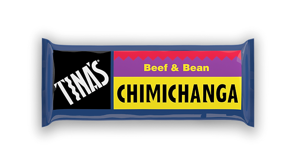 Tinas Single Beef Bean Chimichanga