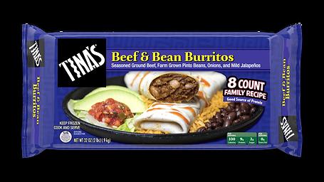 Tina's Beef & Bean Multi Pack Frozen Burritos