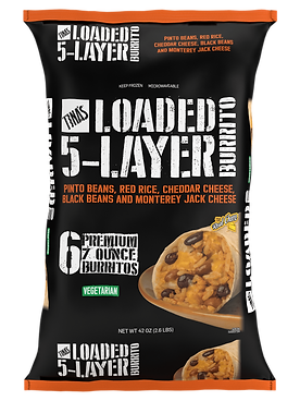 Tina's Loaded 5-Layer Frozen Burritos Beans, Rice, and Cheese 6 count 7oz