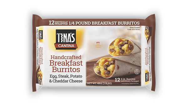 Steak Breakfast Burritos 12ct