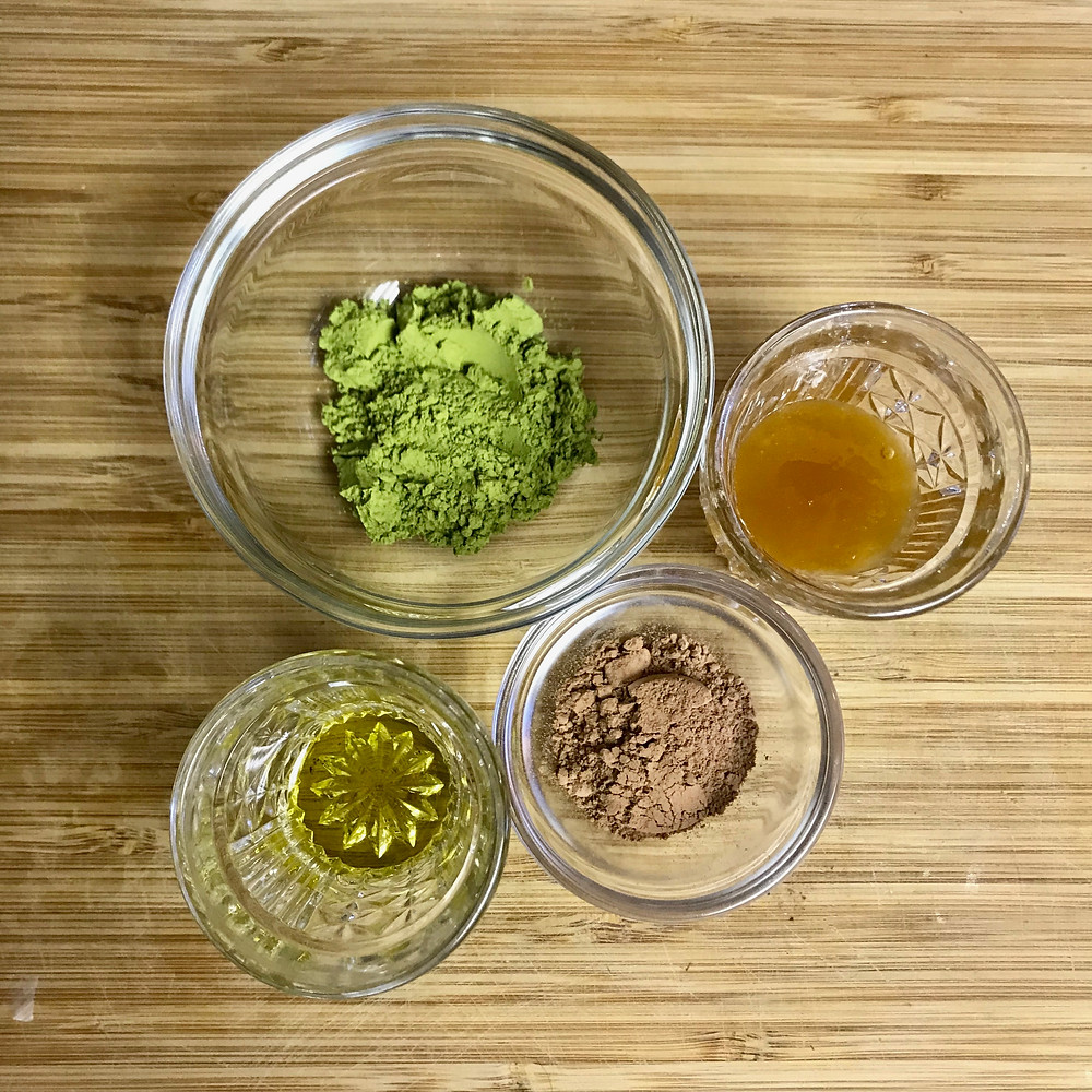 Matcha, Cacao, Lavender Infused Honey, and Nettle Infused Almond Oil