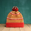 Thumbnail: Dash Line Red Pompom Beanie