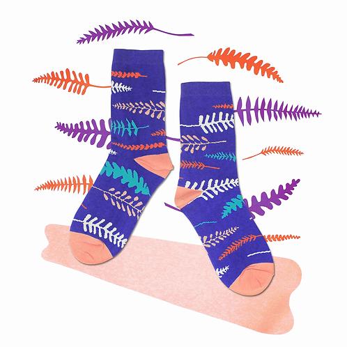 Fern Unisex Crew Socks / Violet