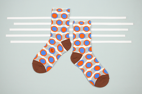 Coffeehouse Unisex Crew Socks / White