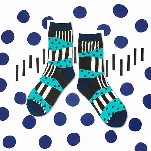 Sandbank Unisex Crew Socks / Black