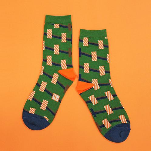 Towers Unisex Crew Socks / Green