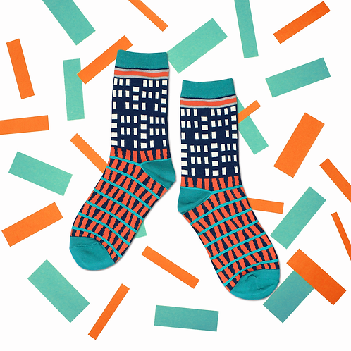 Windows Unisex Crew Socks / Indigo