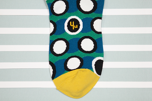 Coffeehouse Unisex Crew Socks / Green