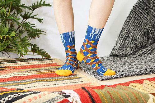 Diamonds Unisex Crew Socks / Denim