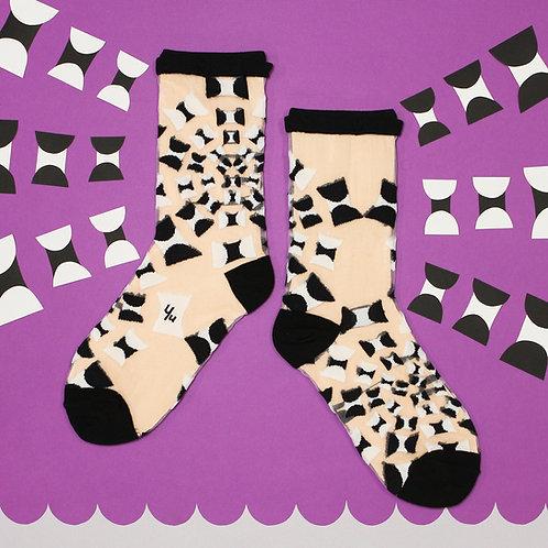 Lantana See-through Sheer Socks / Black