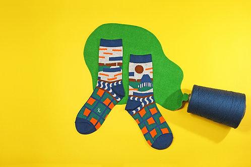 Rocky Yard Unisex Crew Socks / Marl Grey