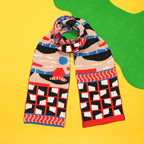 Rocky Yard Beige Knitted Scarf