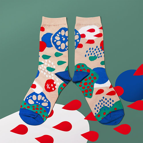 Pond Unisex Crew Socks / Beige