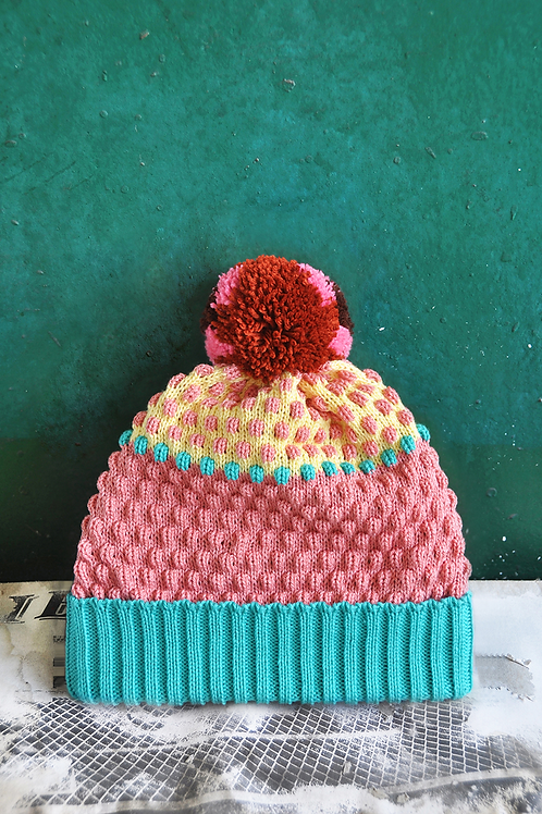 Strawberry Milkshake Pompom Beanie