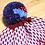 Thumbnail: Magenta Triangle Pompom Beanie