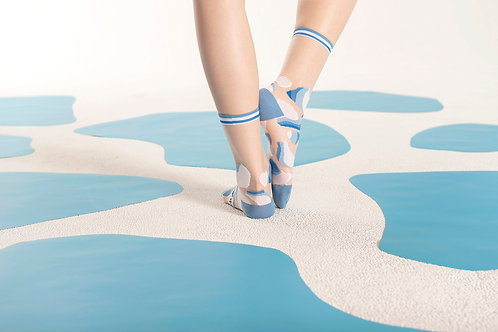 Glacial Lake Transparent Sheer Socks / Sky